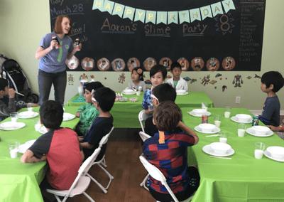 Professor Egghead Slime Party Program